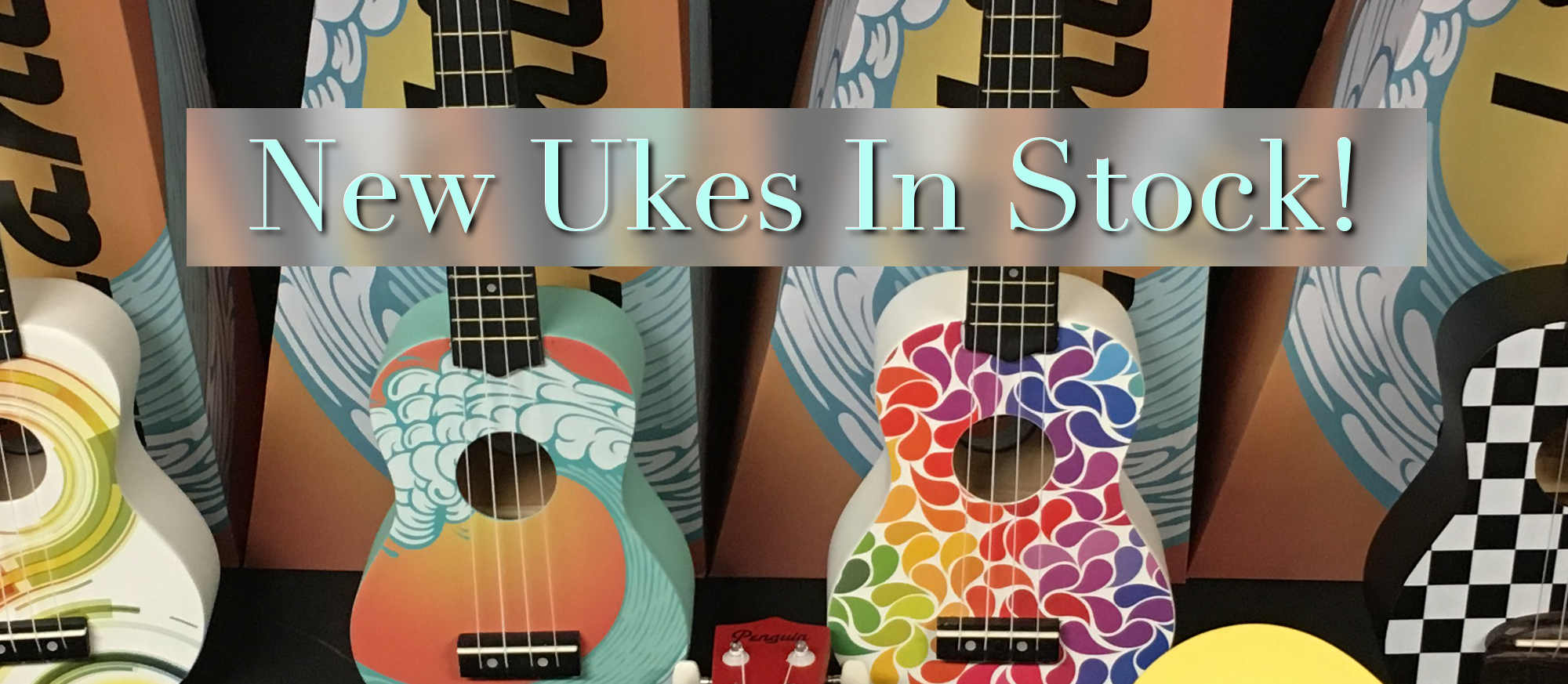 New Colorful Ukes in Stock